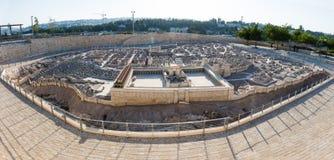 Andra tempelmodell av Jerusalem Royaltyfri Fotografi