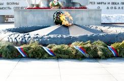 Andra världskrig 1939-1945, Victory Memorial, Ryazan, Ryssland Arkivbild