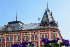 Andrassy宫殿特写镜头  库存照片