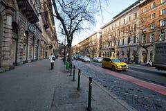 Andrassy-Allee, Budapest Lizenzfreies Stockbild