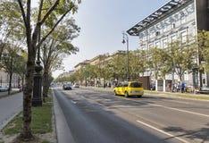 Andrassy-Allee in Budapest, Ungarn Stockfotos