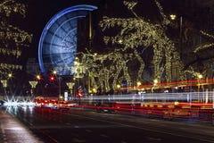 Andrassy-Straße und das Budapest-Auge Stockfotografie