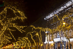 Andrassy way at christmastime Royalty Free Stock Photography