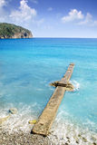 Andratx Camp de Mar in Mallorca Balearic Islands. Stone pier beach Stock Images