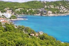 Andratx Kamp DE Mar in Mallorca de Balearen Stock Afbeelding