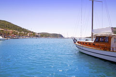 Andratx port in Mallorca Balearic island sailboat Royalty Free Stock Photography