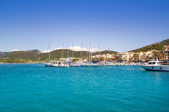 Andratx port marina in majorca Royalty Free Stock Image