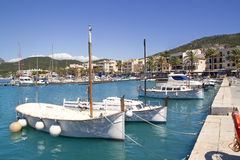 Andratx port marina in Mallorca balearic islands Royalty Free Stock Photos