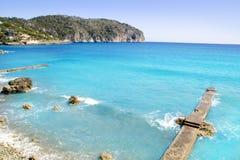 andratx wyspa obozowy De Wyspa Mallorca Mar Zdjęcia Royalty Free