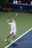 Andre Agassi dient stock afbeeldingen