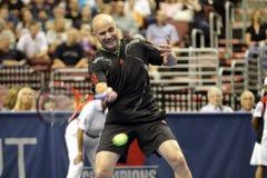Andre Agassi - legende di tennis sulla corte 2011 Fotografia Stock
