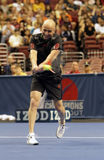 Andre Agassi  - Tennis legends on the court 2011. He 2011 Champions Series is a competitive tennis circuit featuring legendary tennis icons and world-renowned Stock Photo