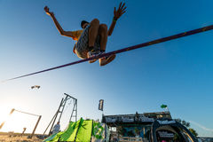 Andre antunes Slackline performance Stock Photos