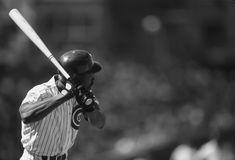 Andre Dawson Chicago Cubs. Andre Dawson of the Chicago Cubs at bat at Wrigley Field Chicago Stock Photo