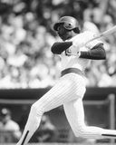 Andre Dawson. Chicago Cubs OF Andre Dawson.  (Image taken from b&w negative Royalty Free Stock Image