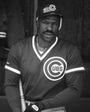 Andre Dawson. Chicago Cubs OF Andre Dawson.  (Image taken from b&w negative Royalty Free Stock Photos