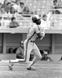 Andre Dawson. Montreal Expos superstar Andre Dawson. (Image taken from b&w negative Royalty Free Stock Image