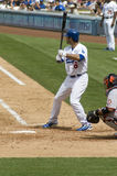 Andre Ethier. Los angeles dodgers' outfielder Andre Eithier in action Stock Image