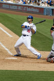 Andre ethier. Los angeles dodgers' outfielder andre ethier in action Stock Photography