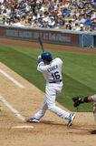 Andre Ethier. Los angeles dodgers' outfielder Andre Eithier in action Royalty Free Stock Photos