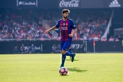 Andre Gomes joue à la correspondance de Liga de La entre le Valencia CF et le FC Barcelona chez Mestalla photographie stock