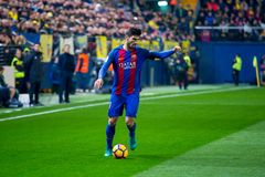 Andre Gomes joue à la correspondance de Liga de La entre le Villarreal CF et le FC Barcelona au stade de madrigal d'EL Photos libres de droits