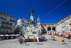 Andre Maria Zuria-Quadrat in Vitoria-Gasteiz stockfoto