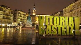 Andre Maria Zuriaren plaza (Virgen Blanca Square) stock video footage