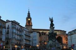 Andre Maria Zuriaren plaza, Vitoria-Gasteiz  Basque Country Royalty Free Stock Photos