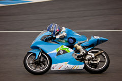 Andre Pires pilot of 125cc in the CEV Royalty Free Stock Photos