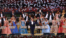 Andre Rieu. Dutch violinist and conductor Andre Leon Marie Nicolas Rieu and the Johann Strauss Orchestra, in concert, in Bucharest, Romania, May 6, 2015 Royalty Free Stock Photography
