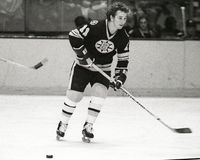 Andre Savard, boston bruins Zdjęcia Stock