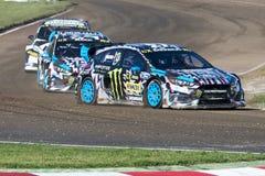 Andrea Bakkerud Barcelona FIA świat Rallycross Obraz Stock