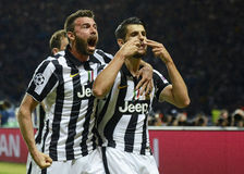 Andrea Barzagli and Alvaro Morata Royalty Free Stock Image