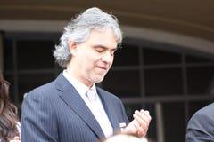 Andrea Bocelli imagem de stock