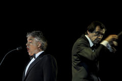 Andrea Bocelli. Andre Bocelli performs in concert at Grand Ballroom The Ritz Carlton Pasific Place on May 15, 2011 in Jakarta, Indonesia Stock Image