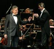Andrea Bocelli en concierto imágenes de archivo libres de regalías