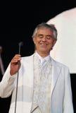 Andrea bocelli 009. Italian classical tenor Andrea Bocelli, blind since the age of 12,  performs live in the Spanish island of mallorca Stock Photo