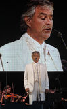 Andrea Bocelli live vertical shot Royalty Free Stock Photography