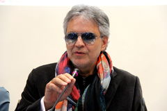 Andrea Bocelli. Is one of the most famous Italian singers in the world. is a pop singer, although in reality purely academic standard of training Stock Photo