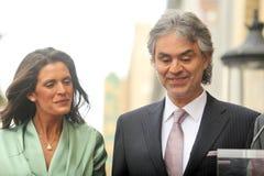 Andrea Bocelli,Veronica Berti Stock Image