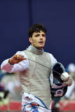 Andrea Cassara during International fencing tournament St. Petersburg Foil 2015 Royalty Free Stock Images