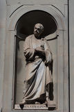Andrea Cesalpino. Statue in the Uffizi Gallery, Florence, Tuscany, Italy.  Stock Photo