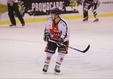 Andrea Delfino. A italian hockey player during a game royalty free stock photos