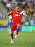 Andrea Dossena of Liverpool FC Stock Photo