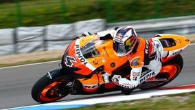 Andrea Dovizioso 4 and Repsol Honda. Team in Grand Prix Czech Republic Brno 2009 Royalty Free Stock Photography