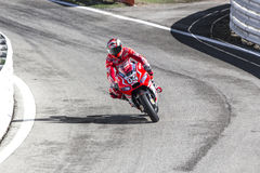 Andrea Dovizioso of Ducati Official team racing. MotoGP. Misano Adriatico, September 14, 2014 Stock Photography