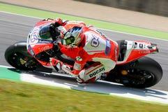 Andrea Dovizioso Ducati przy Mugello 2015 Zdjęcia Stock