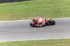 Andrea Dovizioso en el funcionario Ducati MotoGP Foto de archivo libre de regalías