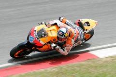 Andrea Dovizioso of Italy takes a corner Stock Image